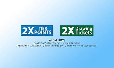 2X Tier Points 2X Drawing Tickets
